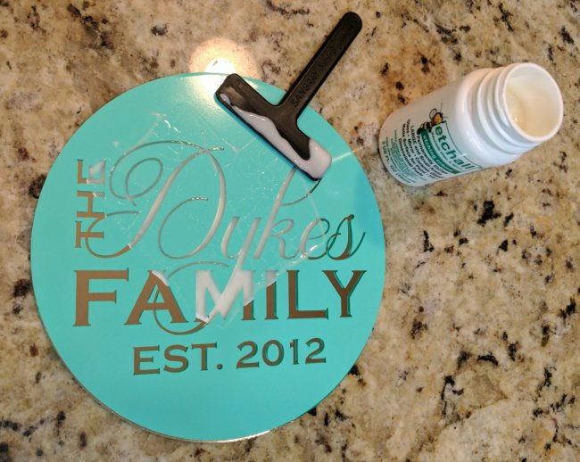 Glass Etching Gift Idea with EtchAll 5