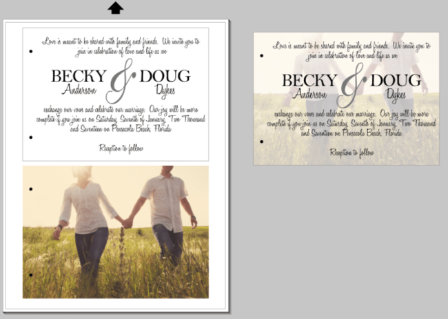 Rustic Wedding Invitation with Vellum Overlay 4