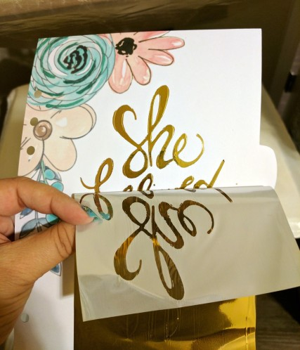 Adding Bling with DecoFoil and HTV6