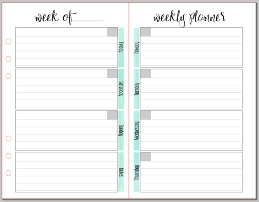 Organization of a Planner4
