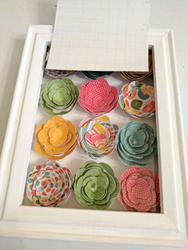 Shadow Box with 3D Paper Flowers14