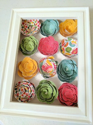 Shadow Box with 3D Paper Flowers9